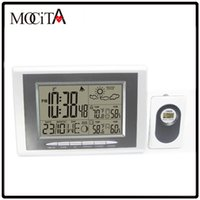 Digital atomic clock - MOCITA Digital Wireless Weather Station with Indoor Outdoor Thermometer Hygrometer Atomic Alarm Snooze Clock