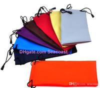 Wholesale 100pcs waterproof leather plastic sunglasses pouch soft eyeglasses bag Sun glasses case cases free ship