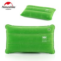 Wholesale Portable Inflatable Cushion Pillow Outdoor Travel Folding Air Inflatable Pillow Flocking Cushion for Plane Hotel air pillow