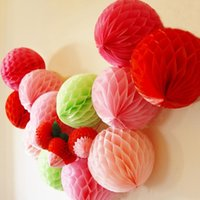 Wholesale 6 quot quot quot Tissue Paper Honeycomb Balls For Party Wedding Decoration Event Party Supplies Baby Shower Party Decorations