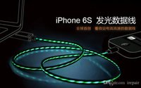 Wholesale Visible Flowing Light Cable Cool LED Light Micro USB Charger Data Cable for Iphone for Andriod Smart Phone