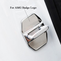 Wholesale Car Door Lock Cover For Mercedes AMG Badge Door Lock Cover Case Stainless Steel For Benz AMG Door Lock Decoration Protection
