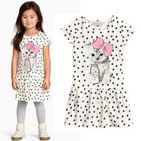 babies animal costumes - Baby Kids Clothing vintage Flower girls dresses Summer children cute cat Ball gowns princess costume party dress toddler clothes DR041