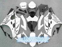 achat en gros de yzf r6 flamme blanche-100% Fit Carénage kit pour 2006 2007 Flame noir blanc YZF R6 YZF-R6 2006-2007 YZF R6 2006 2007 YZF R6 06 07