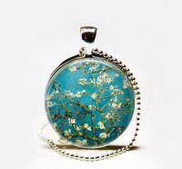 almond filling - Handcrafted Van Gogh Almond Branch in Bloom necklace Van Gogh art pendant Van Gogh art necklace