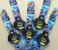 batman wrist watch - 2017 The Hot Batman Movie Batman Slap Watch Boys Girls Children Students Watch Quatz Wrist Watch Small Gifts for Kids Free DHL Shipping