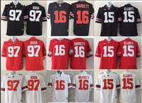 Wholesale Ohio State Buckeyes Football Jerseys Joey Bosa Ezekiel Elliott College Jersey Red Black Cardale Jones Braxton miller Football