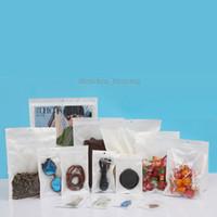 Clear White Pearl plástico bolsas de poliéster OPP embalaje cierre de cremallera paquete de accesorios de PVC cajas al por menor agujero de mano para el iPhone USB Samsung teléfono celular