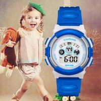 al por mayor espectáculos mm-7 color LED luminoso impermeable relojes de los niños de los estudiantes de la semana mostrar calendario reloj despertador relojes regalo de los niños