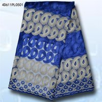 Wholesale African Lace Hot Sell Mesh New Arrival royal blue Color african cord Lace guipure lace Fabrics High Quality DMPLblue002