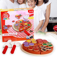Wholesale Simulation of Mushrooms Pizza Kitchen Over Every Family Children Wooden Early Education Puzzle Development of Intellectual Toys