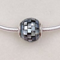 Religious bead balance - Balance Essence Charms Made of Sterling Silver Fit European Style Brand Bracelets ALE Striped Shell Beads for Jewelry Making
