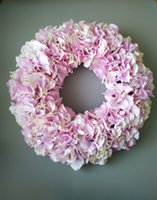 Wholesale wedding decoration dream pink wreaths front door hydrangea wreath inches party birthday table centerpieces flowers