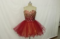 beaded wine skirt - 2016 new sexy wine red sequins light gold sequins heavy hand made bandage multilayer net Homecoming Dresses shipping cheap color skirt