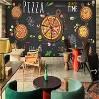 Wholesale D Stereo Custom Hand Painted Mural Pizza Shop Children Room KTV Cafe Restaurant TV Background Wallpaper Mural