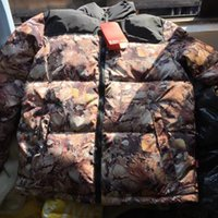 batik jacket - Foison New Cooperation Suprem FW Jacket Fashion Fallen leaves Down Jacket Men And Women Down Clothing Top Quality