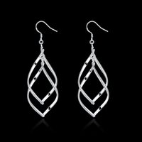 banana jewellery - Fashion Jewellery Sales Double banana Shaped Silver Plating Earrings Women Luxury jewelry