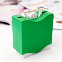 Wholesale quality creative hercules Automatically Toothpick Box Holder palillero automatico