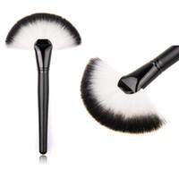 big makeup kits - Soft Makeup Large Fan Brush Blush Powder Foundation Make Up Tool big fan Cosmetics brushes