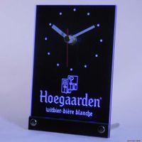 Wholesale tnc0122 Hoegaarden Belgium Beer Bar Table Desk D LED Clock