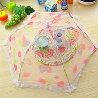 Wholesale Fashion lace net yarn folding dishes covered vegetables cover food cover table food cover