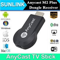 AnyCast M2 Plus Wireless WiFi Display Dongle Receptor 1080P HDMI TV Stick DLNA Airplay Miracast para SmartPhones a HDTV Monitor