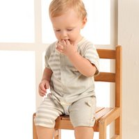 Wholesale Newborn baby clothes years old triangular climbing clothes summer short sleeves color cotton baby Rompers