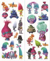 Wholesale Kids Party Gift Trolls stickers bubble Cartoon Wall Stickers Kids Gifts Trolls Poppy Stickers