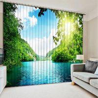 beautiful landscaping photos - Photo custom any size Fashion D Home Decor Beautiful modern living room curtain landscape