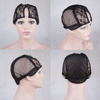 Wholesale Cheap human hair U part lace wig cap Medium Size Lace Wig Caps With Adjustable Straps