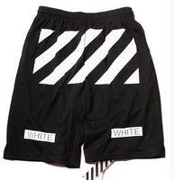Wholesale Fashion men women hip hop brand off white virgil abloh mesh shorts mens casual board beach shorts Casual short pants boardshorts
