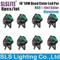 Wholesale 8pcs LED PAR x10w LIGHTS watt RGBW PAR Quad Par Light Stage Light Using in DJ Show