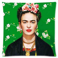 Wholesale Cushion Cover Frida Kahlo Pillow Case Firm Flower self portrait Sofa Butterfly Bedroom Home Decorative Throw Pillow Cover