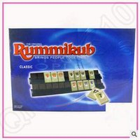 Wholesale Travelling Version Classic Board Game Original Digital Game Israel Mahjong Rummikub The Fast Moving Rummy Tile Family Game CCA5348