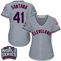 baseball style shirts for women - Women s Cleveland Indians Carlos Santana Road World Series Bound Baseball Jersey Sports Style Shirts for price