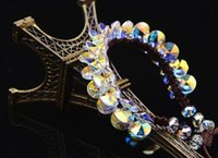 anise flower - Austrian crystal bracelet handmade cord anise flying saucer mm can be adjusted very hot and popular