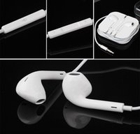 Wholesale Apple Original Headphone Earbuds iPhone6 s s Earphone mm Handsfree with Mic iPad Earphones Headset with Retail Box