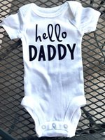 baby boy one piece hello - Baby summer rompers infant toddlers soft cotton hello world print rompers newborn baby one piece jumpsuit