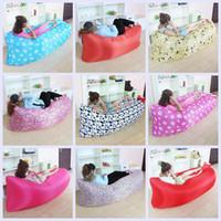 20 cores rápido inflável Air Sleeping Bag Hangout espreguiçadeira Air Camping Sofa Portable praia nylon tecido dormir cama LJJH1466