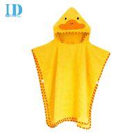 baby bath cloth - IDGIRL New Arrival Baby Towel Bath Towel Cartoon Duck Protect Lovely Hooded Towel For Babies Cloak Yellow cloth YE0012