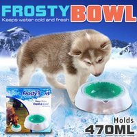 Wholesale Pet Cooling Cool Bowl Freezable Chilled Water Bowl Summer Chilled Frozen Dog Cat