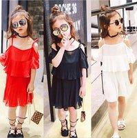 New Arrival 2017 Enfant Princesse Princesse Sling Cate Robe Enfant Fille Beach Skirt Belle Robe Kids Girl Fashion Robes 5 Pcs / lot B