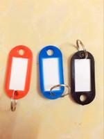 Wholesale hot selling keys tags chain tags key ring key labels tag key chain