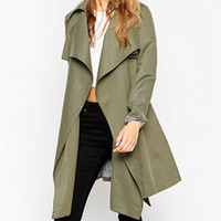 army trench coats for sale - Hot Sale New Fashion Spring Long Open Stitch Cardigan Thin Trench Coat for Women Solid Long Sleeve Windbreaker A406