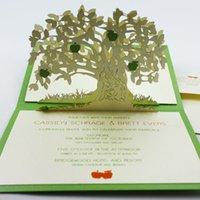 apple wedding invitations - newmengxing Laser cut Pop up cards apple tree laser cut D wedding invitations