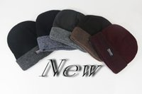 Wholesale Hot Autumn and winter cap unisex hats the wave of wool hat thicker knit hat Baotou men and women young hats