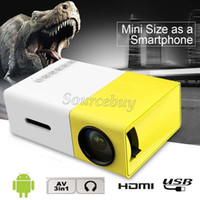Wholesale Mini Size As a Smrtphone Projector YG300 LED Light Multimedia AV HDMI Cooling System Portable Theater Home Cinema Pocket Proyector