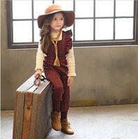 Girl bib overall pants - 2 color NEW ARRIVAL Korean style pleated Denim Bib pants girl overalls T