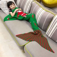 Wholesale 2017 Mermaid Tail Blankets for Kids and adults size Christmas fashion design Knitting warm sleeping bag pc
