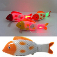 baby bauble - Led Glowing Fish Toy Flash Electric Toy Unisex Children Toy Fish Singing Flashing Sway Clownfish Babies Lovely Led bauble